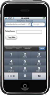 tel input type on iphone